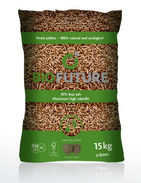 Aktualne pellet BIOFUTURE A1 DIN PLUS EN PLUS 975kg (0,9230 zł/kg) cena z PK94